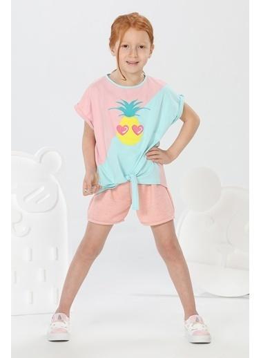 Lupiakids Ananas Tshirt+Simli Şort Takım Renkli